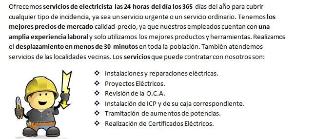 Electricistas en Fortuna siempre disponibles